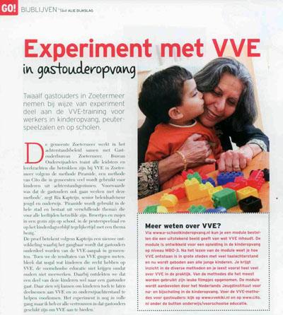 Kiddo - april 2013 Onderwerp: VVE certificering gastouders in Zoetermeer