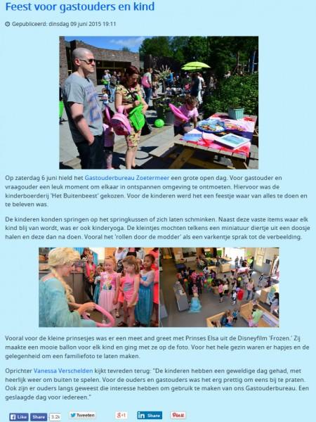 Zoetermeeractief.nl - 9 juni 2015 Onderwerp: Open dag GOB Zoetermeer