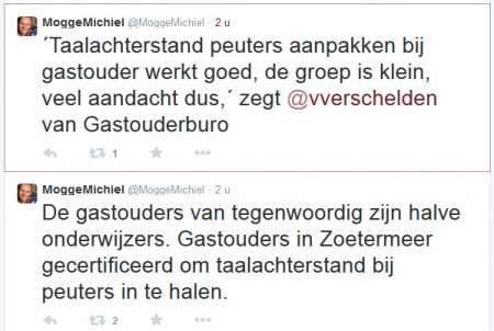 Radio West + Twitter - 31 oktober 2014 Onderwerp: VVE certificering van gastouders in Zoetermeer.