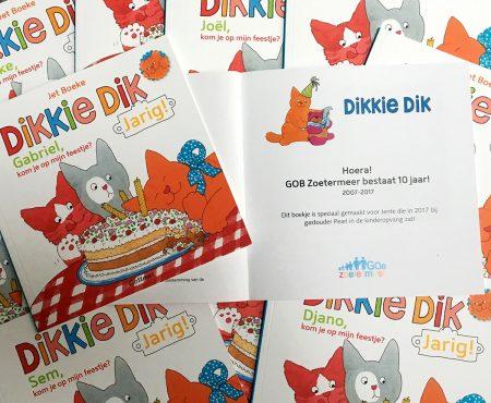 cadeautje voor de kinderen ter ere van 10 jarig jubileum gastouderbureau zoetermeer
